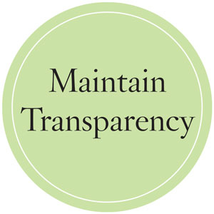 Maintain Transparency
