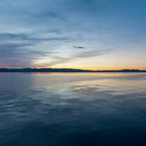 Sunset over Lake Champlain