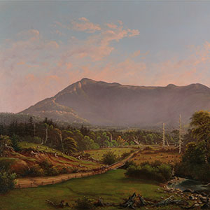 Detail of Charles Louis Heyde's Mount Mansfield.