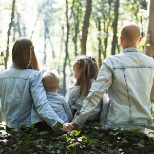 Family spending time together in nature.