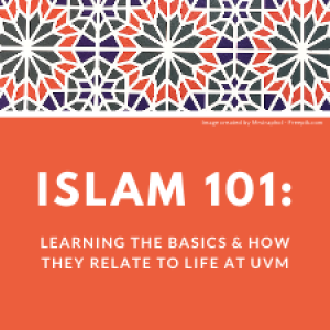 "Program logo for ""Islam 101"" training that includes an Islamic mosaic design."