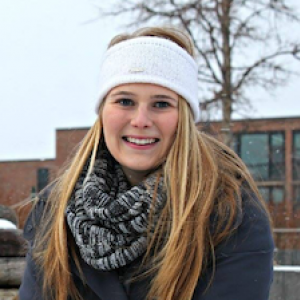 student in winter