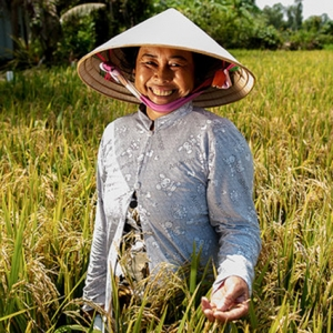 Woman in agriculture field