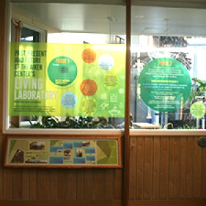 Living lab window display about former eco-machine