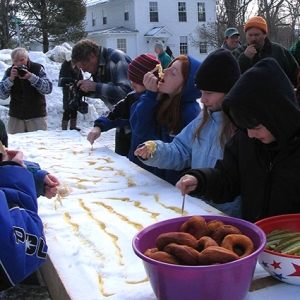 Sugar on Snow event. Photo by Catherine Stevens.