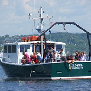 Melosira research vessel on lake