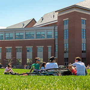 hanging out on the Davis green