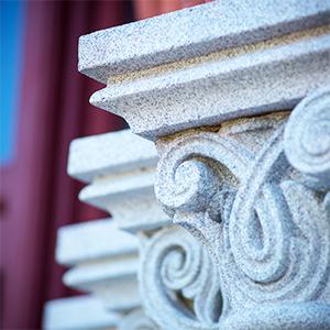 pillars detail of building