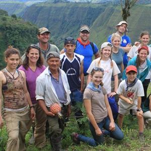 Students in Ecuador