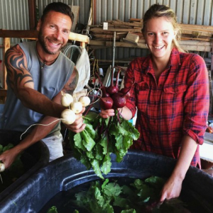 UVM Catamount Farm Washing Root Crops