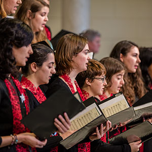 Choral singers at University of Vermont