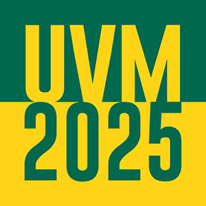 UVM 2025 written in green and gold