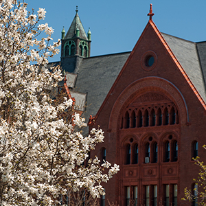 Williams Hall in spring