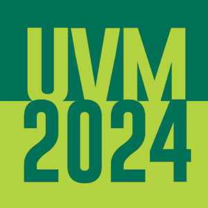 UVM 2024 in green text