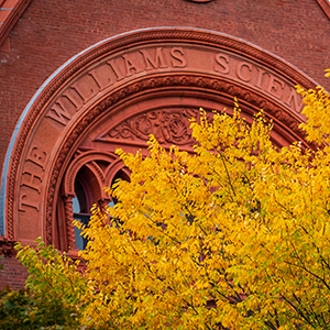Foliage in front of Williams Hall
