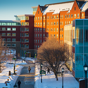UVM Central Campus in winter