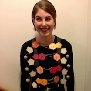 Brittany Verrico in a DNA costume