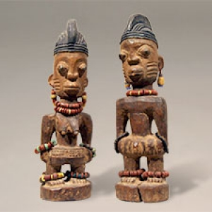 Pair of small carvings from the African Collection