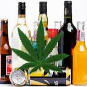 picture of alcohol, cannabis