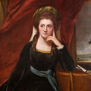 Detail of a portrait of a woman from the American Collection