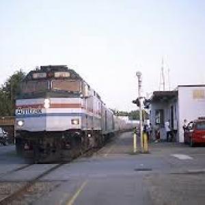 amtrak train at essex station