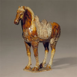 Ceramic horse from the Asian Collection