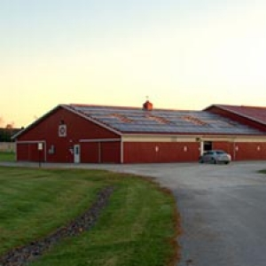 Solar panels on Miller barn