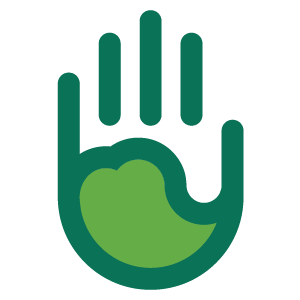 Care Logo - Hand with Heart imprint