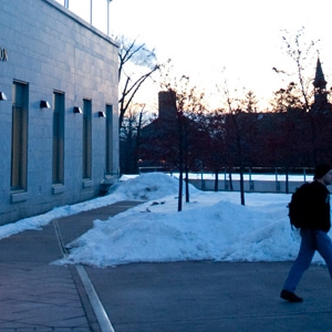 campus in the evening