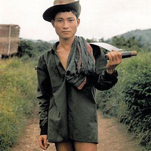 Detail of Chan Chao's Karen Rebel, 1996