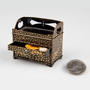 Japanese miniature chest with plates