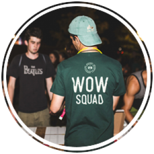 Week of Welcome Squaders helping students