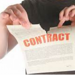 graphic of contract cancel