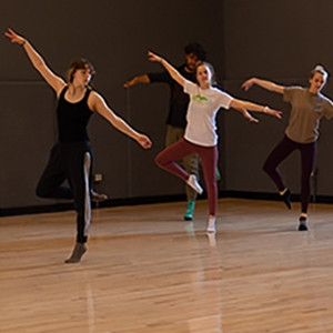UVM contemporary dance class