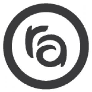 RA block logo half