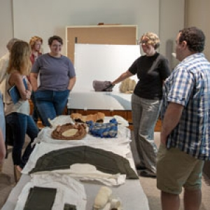 UVM students view objects from storage