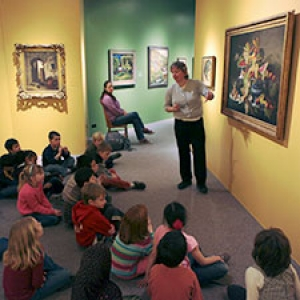 A guided tour of young students