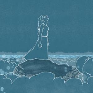 "Detail from Glynnis Fawkes' ""Roaring Ocean"""