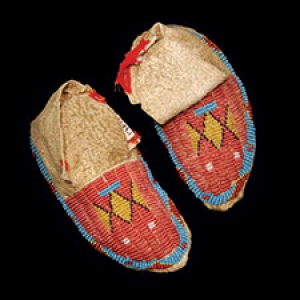 Moccasins found in the Native American museum kit