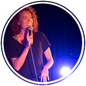 Comedian Michelle Wolf tells jokes on stage