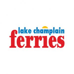 text saying lake champlain ferries
