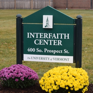 Interfaith Center Sign