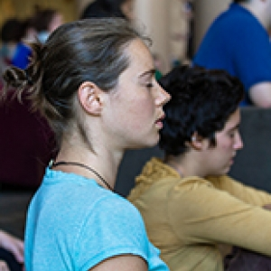 Meditating Student