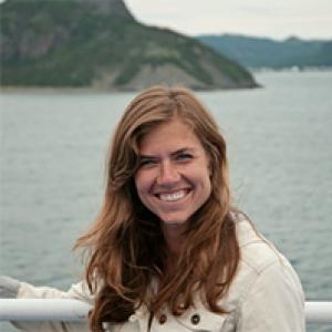 Megan smiles