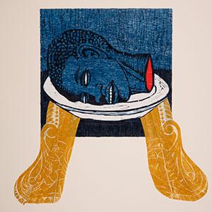 """Detail of Alison Saar's """"Blue Plate Special,"""" 1993"""