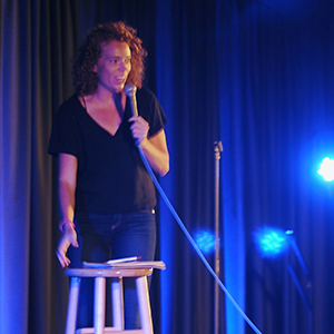 Michelle Wolf doing standup