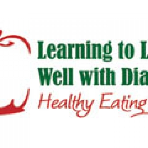 Image of apple and 'Learning to Live Well with Diabetes'