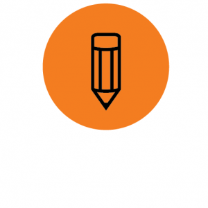 Badge with a pencil icon