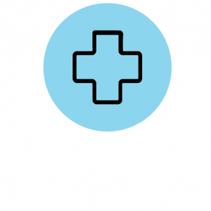Icon of a plus representing the health professions