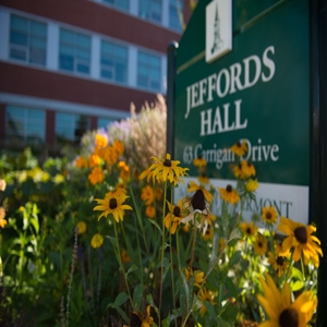 Jeffords Hall sign